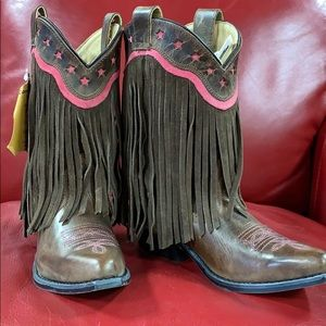 Other - Smoky Mountain Fringe Kids Boots, Brown, NWT